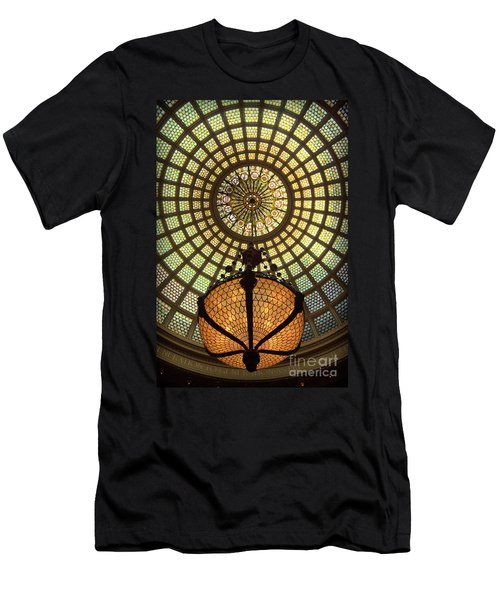 Tiffany Ceiling In The Chicago Cultural Center Men's T-Shirt (Athletic Fit)