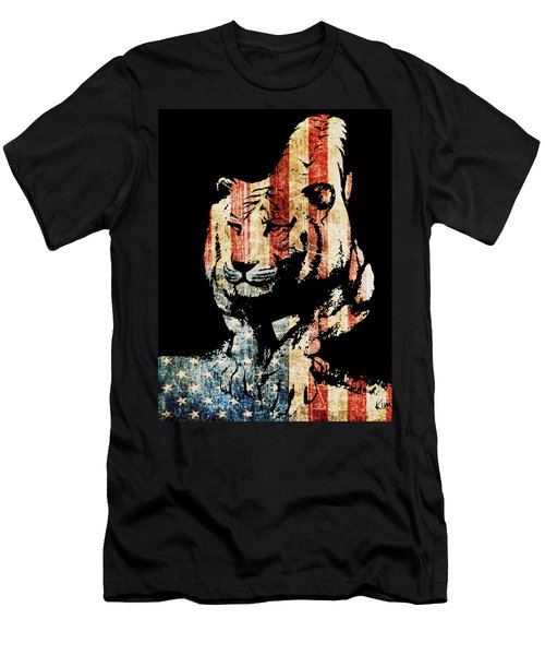 Men's T-Shirt (Slim Fit) featuring the drawing Tiger Collage #9 by Kim Gauge