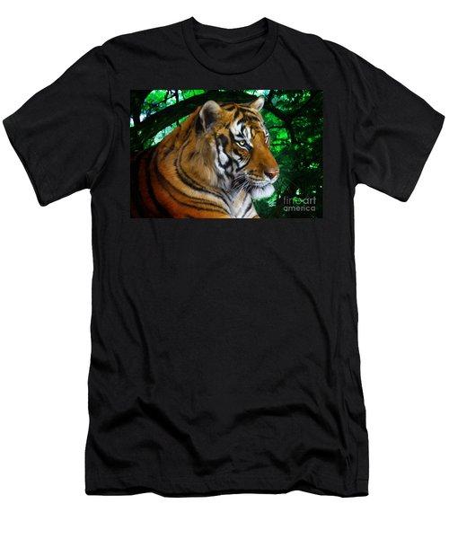 Tiger Contemplation Men's T-Shirt (Athletic Fit)