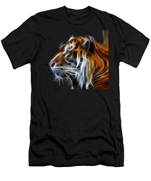 Tiger Fractal Men's T-Shirt (Slim Fit) by Shane Bechler