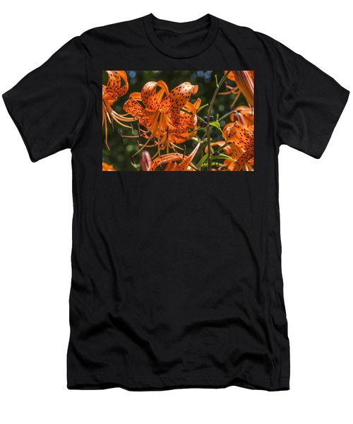 Tiger Lilies In The Sun Men's T-Shirt (Athletic Fit)