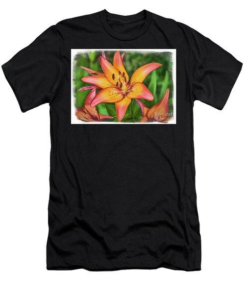 Tiger Lilies Men's T-Shirt (Athletic Fit)