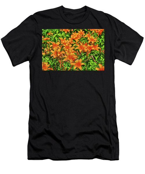 Tiger Lilies Men's T-Shirt (Athletic Fit)