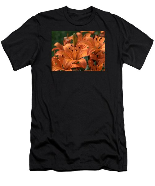 Tiger Lily Blossoms Men's T-Shirt (Athletic Fit)
