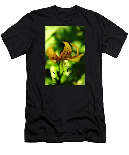 Tiger Lily Men's T-Shirt (Slim Fit) by Debbie Oppermann
