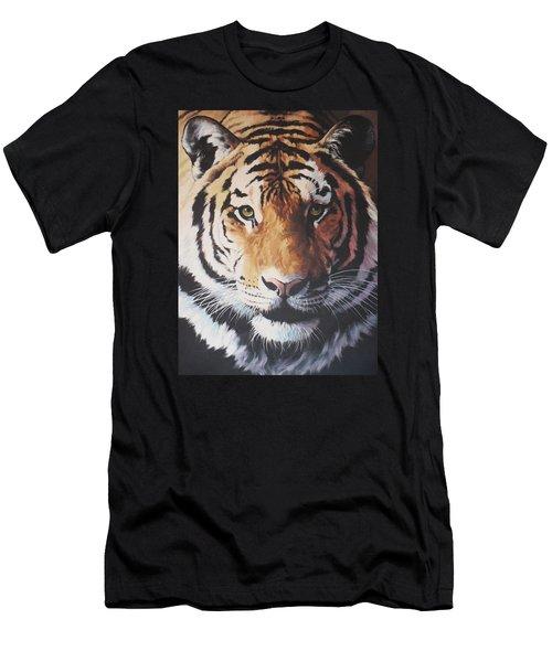 Tiger Portrait Men's T-Shirt (Slim Fit) by Vivien Rhyan