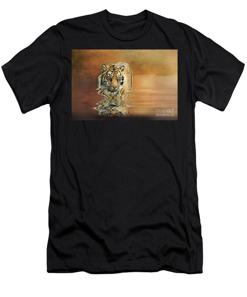 Tiger Reflections Men's T-Shirt (Athletic Fit)