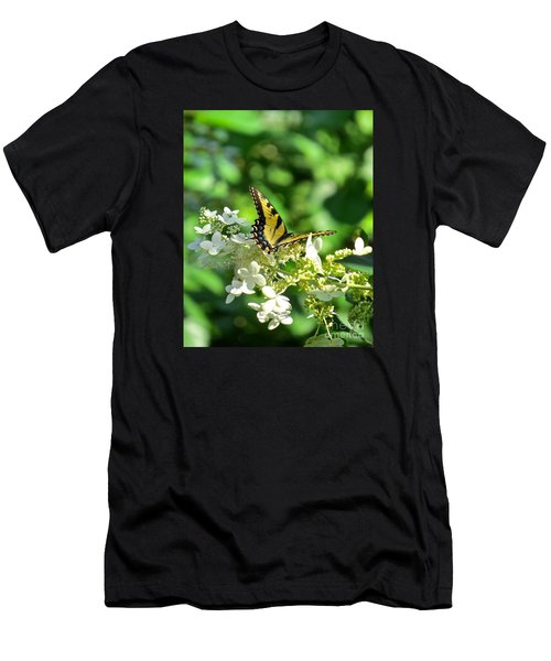 Tiger Swallowtail  Men's T-Shirt (Slim Fit) by Nancy Patterson