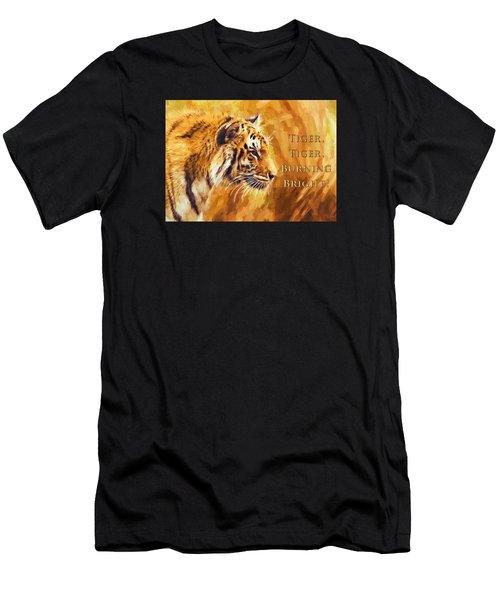 Tiger Tiger Burning Bright Men's T-Shirt (Athletic Fit)