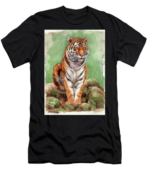 Tiger Watercolor Sketch Men's T-Shirt (Athletic Fit)