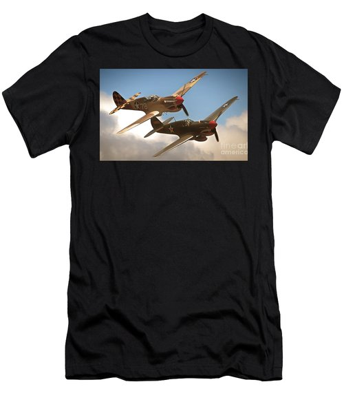 Tigers On The Prowl P-40 Warhawks Men's T-Shirt (Athletic Fit)