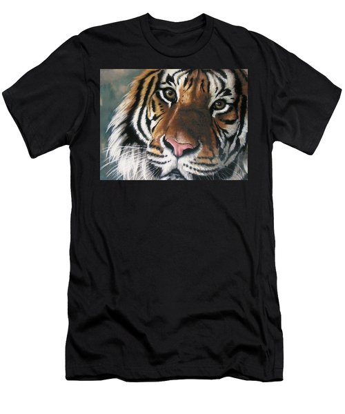 Men's T-Shirt (Athletic Fit) featuring the pastel Tigger by Barbara Keith