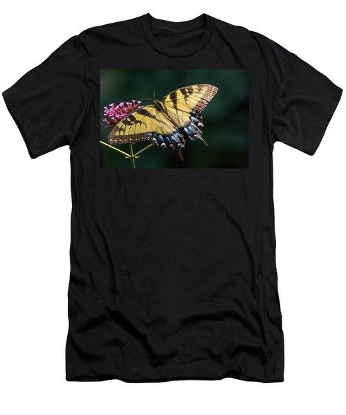 Men's T-Shirt (Slim Fit) featuring the photograph Tigress And Verbena by Byron Varvarigos