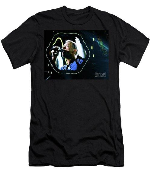 Chris Martin - A Head Full Of Dreams Tour 2016  Men's T-Shirt (Slim Fit) by Tanya Filichkin
