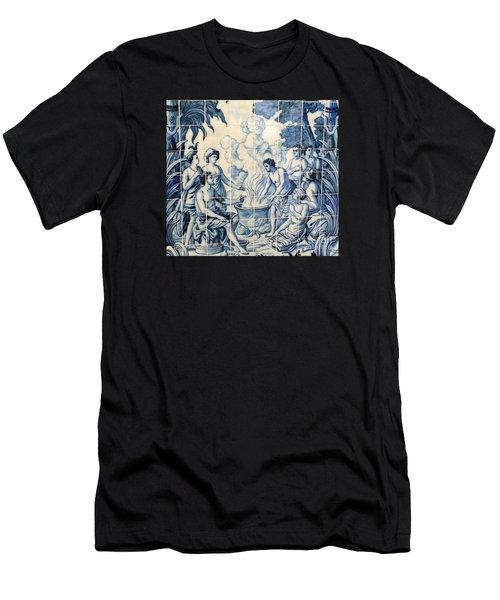 Tile Art Men's T-Shirt (Athletic Fit)