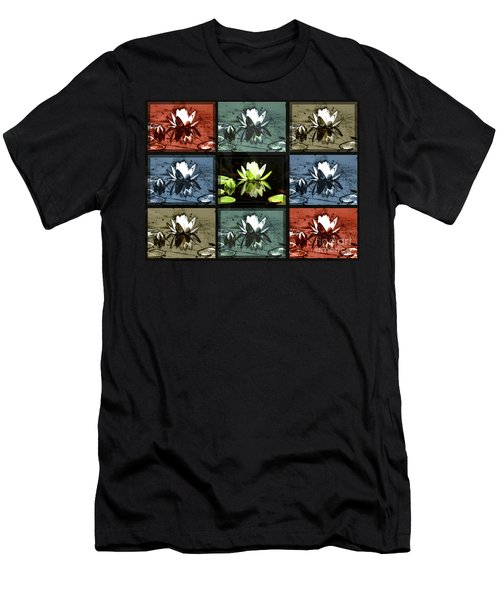 Tiled Water Lillies Men's T-Shirt (Athletic Fit)