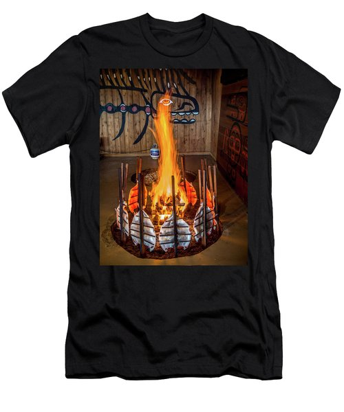 Tillicum Village Salmon Cook Men's T-Shirt (Athletic Fit)
