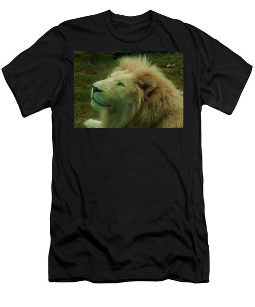 Men's T-Shirt (Athletic Fit) featuring the photograph Timbavati White Lion by Chris Flees