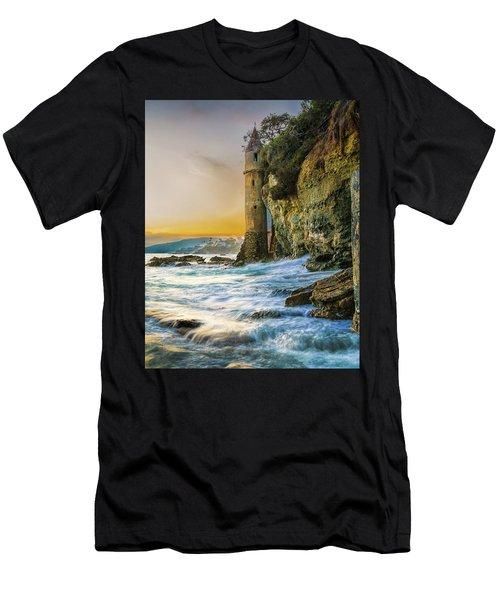 Time Flows I Wait Men's T-Shirt (Athletic Fit)