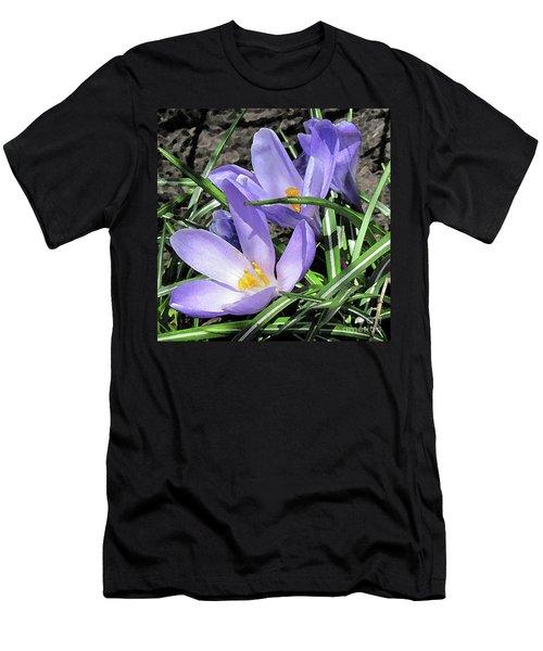 Time For Crocuses Men's T-Shirt (Athletic Fit)