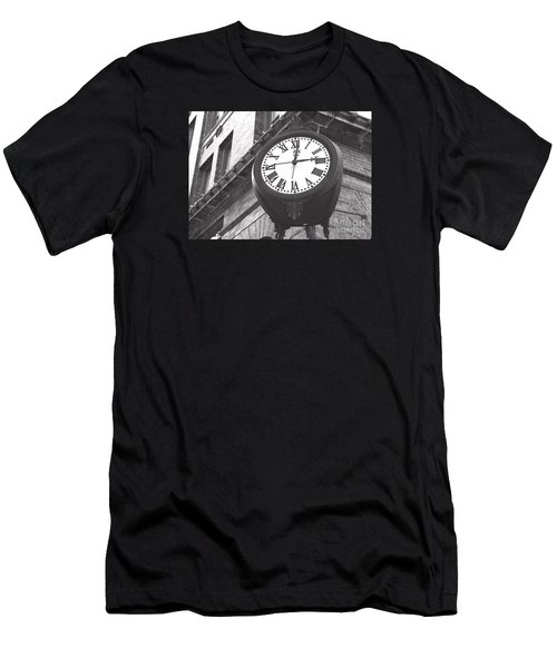 Men's T-Shirt (Slim Fit) featuring the photograph Time Keeps Ticking by Rebecca Davis