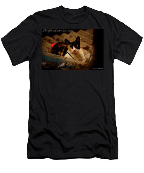 Time Spent With Cats. Men's T-Shirt (Athletic Fit)
