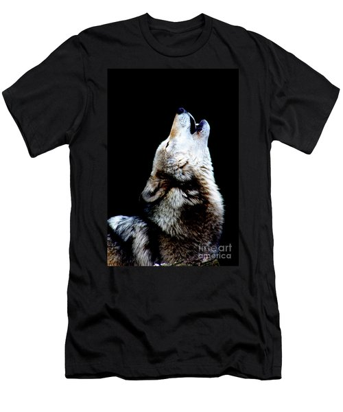Time To Howl Men's T-Shirt (Slim Fit) by Nick Gustafson