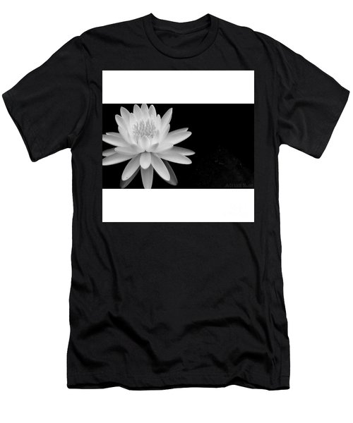 Black And White -timeless Lily Men's T-Shirt (Athletic Fit)
