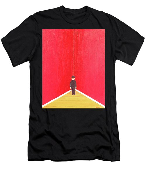 Men's T-Shirt (Slim Fit) featuring the painting Timeout by Thomas Blood