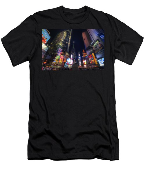 Times Square Moonlight Men's T-Shirt (Athletic Fit)