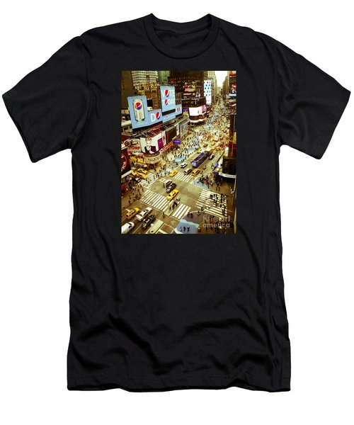 Times Square Traffic Men's T-Shirt (Athletic Fit)