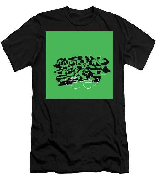 Timpani In Green Men's T-Shirt (Slim Fit) by David Bridburg
