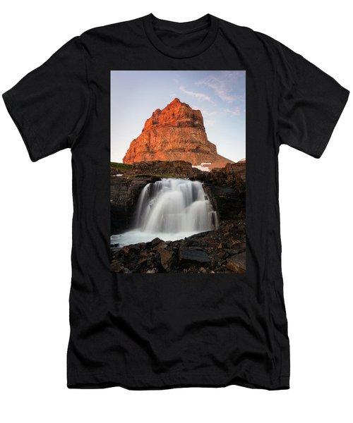 Timpanogos Waterfall Men's T-Shirt (Athletic Fit)