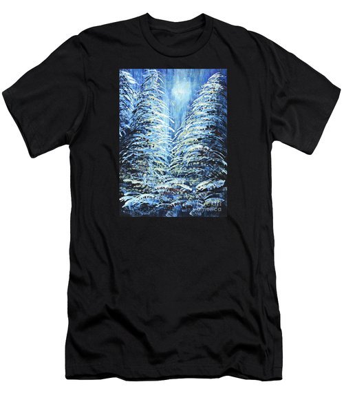 Tim's Winter Forest Men's T-Shirt (Athletic Fit)