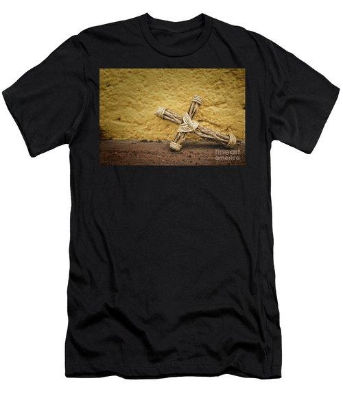 Tiny Cross  Men's T-Shirt (Athletic Fit)