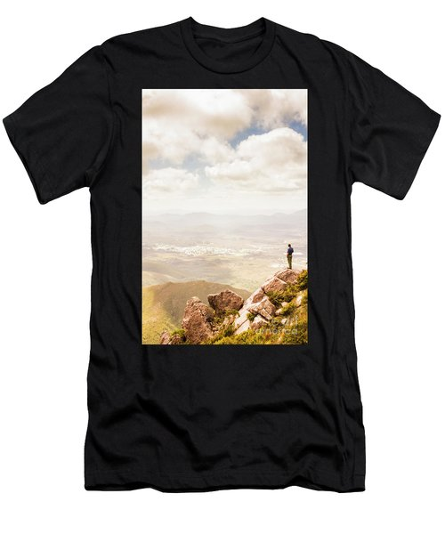 Tip Of Mt Zeehan Tasmania  Men's T-Shirt (Athletic Fit)