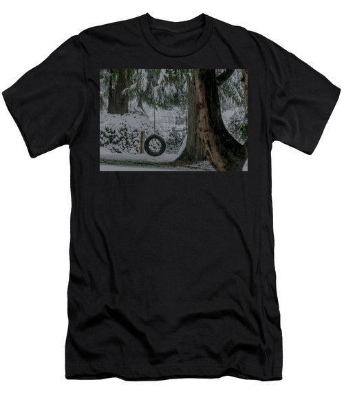 Tire Swing In Winter Men's T-Shirt (Athletic Fit)