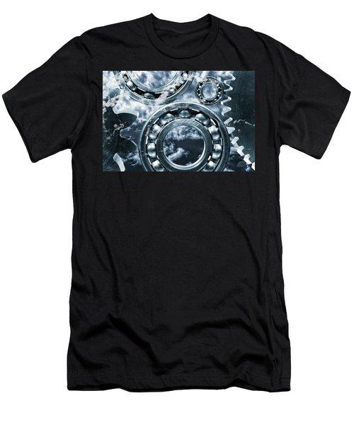 Titanium Gears Against Storm Clouds Men's T-Shirt (Athletic Fit)
