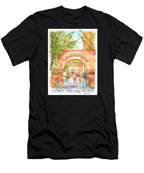 Tlaquepaque Gallery In Sedona, Arizona Men's T-Shirt (Athletic Fit)