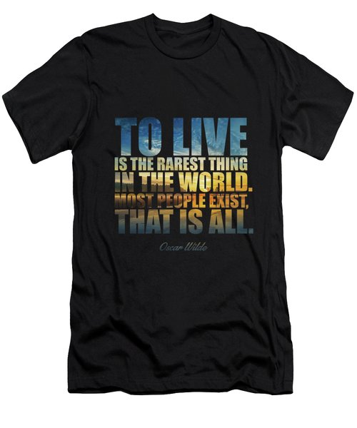 To Live Is The Rarest Thing... Men's T-Shirt (Athletic Fit)
