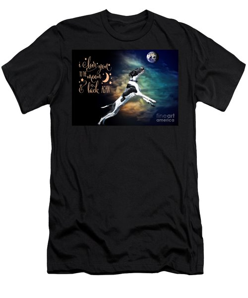 To The Moon Men's T-Shirt (Athletic Fit)