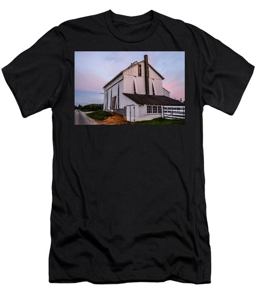 Tobacco Barn At Dusk Men's T-Shirt (Athletic Fit)