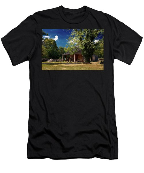 Tobacco Barn Men's T-Shirt (Slim Fit) by Christopher Holmes