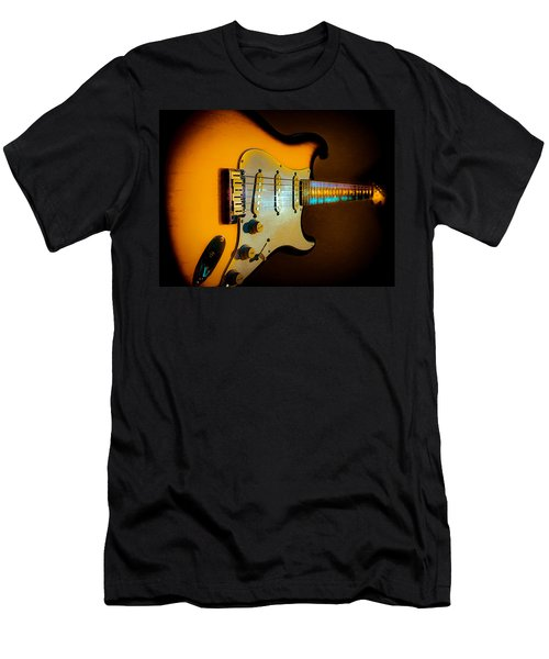 Tobacco Burst Stratocaster Glow Neck Series Men's T-Shirt (Athletic Fit)