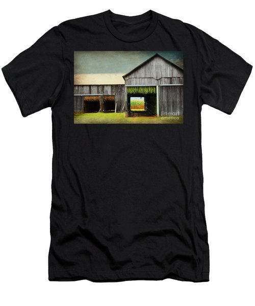 Tobacco Drying Men's T-Shirt (Athletic Fit)