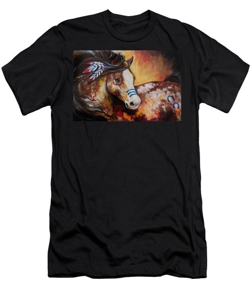Tobiano Indian War Horse Men's T-Shirt (Athletic Fit)