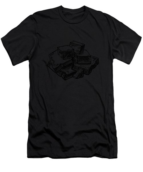 Toffee Fudge And Caramel  Men's T-Shirt (Athletic Fit)
