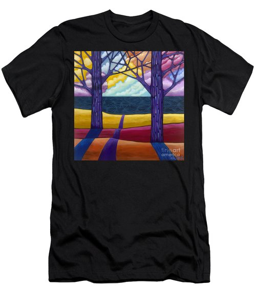 Men's T-Shirt (Athletic Fit) featuring the painting Together Forever by Carla Bank