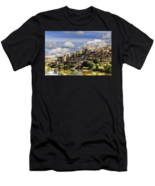 Toledo. Majestic Stone Fortress The Alcazar Is Visible From Any Part Of The City Men's T-Shirt (Athletic Fit)