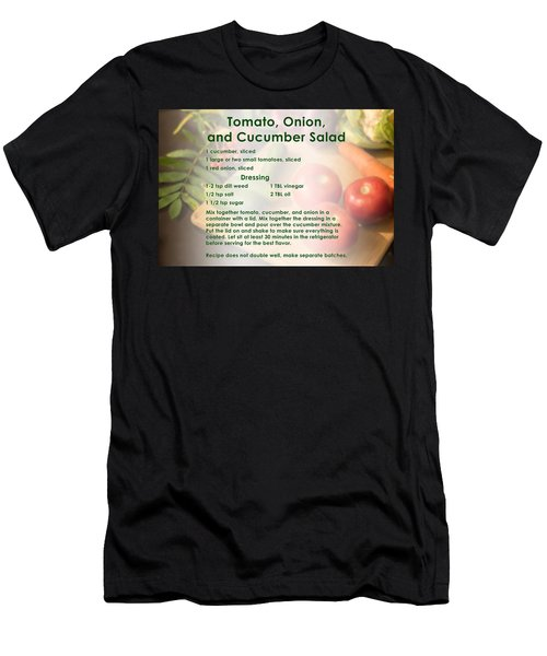 Tomato Onion Cucumber Salad Recipe Men's T-Shirt (Athletic Fit)